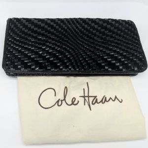 COLE HAAN Leather and Suede Oversized Clutch NWT